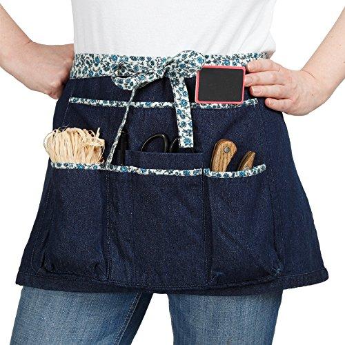 La cordeline Grembiule da Giardinaggio in Cotone Blue Jeans Liberty 64 x 0,5 x 34 cm TJC1BJL