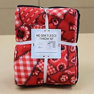 Buckaroo Bandana No-Sew Throw Fleece Fabric Kit (72x60)
