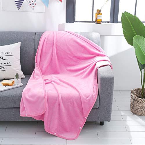 Couette paresseuse avec manches, Lady Multifonction Monocouche Couverture Softable Écharpe Wrap Châle Hiver Chaud Textiles de Maison