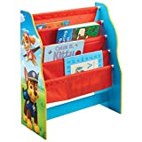 PAW PATROL Hängefach-Bücherregal für Kinder – Büchergestell für das Kinderzimmer, Holz, Red and Blue, 23 x 51 x 60 cm
