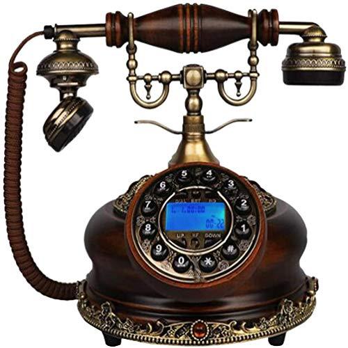 LLKK JNYTD - Cable fijo para teléfono móvil antiguo, madera maciza, metal