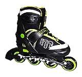 Mongoose Adjustable Inline Skates- Green, Green/Gray/Black, Size 5-8