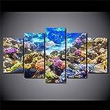 YXBNB 5 LeinwandbilderModerne HD Gedruckt Wandkunst