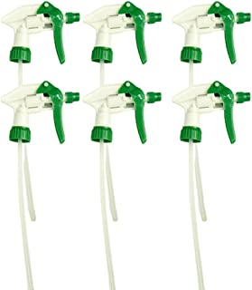 CARCAREZ Replacement Chemical Resistant Spray Head Heavy Duty Trigger Nozzle for Auto Detailing Cleaning Green Pack of 6