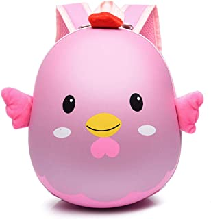 Kids 3D Chick School Bags Animal Cartoon EVA Backpack for Kindergarte Children Girls Hard Shell Backpacks Boy Zhaozb (Color : Pink)
