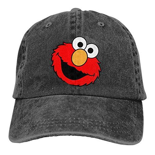 Cbmvnc Zc Jeans Hat Elmo's World Running Baseball Cap Sports Cap Adult Trucker Hat Mesh Cap Black