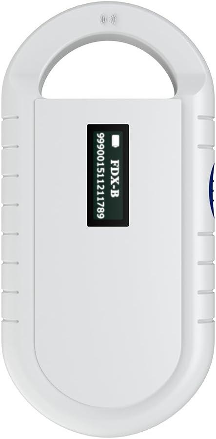 Wisoqu RFID Reader,Backlight Screen Portable Handheld Animal Chip Reader Pet Microchip Scanner Universal RFID Reader, Low Battery Alarm Mode