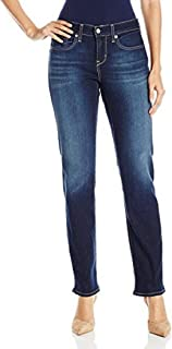 Signature by Levi Strauss & Co Women's Curvy Straight Jeans, Vivacious, 16 Short