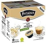 Café Fortaleza - Cápsulas Compatibles con Dolce Gusto, Sabor Café Veggie Con Leche de Avena, Listo para Tomar, Pack 3 x 10 - Total 30 cápsulas