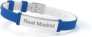 Real Madrid Pulsera Club de Fútbol Fashion Azul Ajustable para Hombre, Mujer y Niño