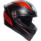 AGV(エージーブイ) バイクヘルメット フルフェイス K1 WARMUP MATT BLACK/RED (ウォームアップ) XL (61-62cm) 028192IY002-XL