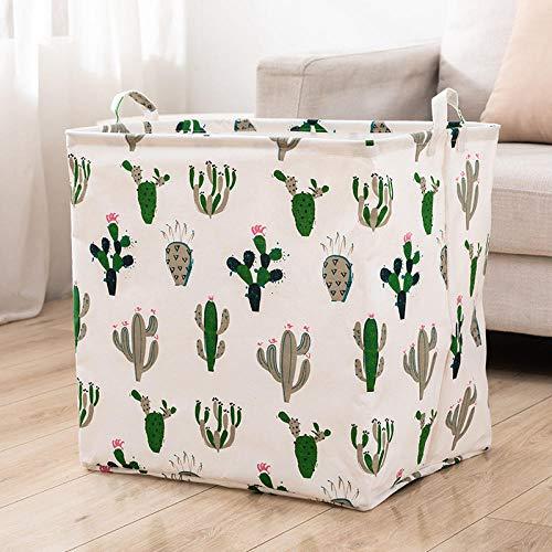 Charm4you Borsone da Viaggio per Aereo,Borsa Pieghevole in Tessuto-Cactus_100L,Maglioni contenitori per organizzatore