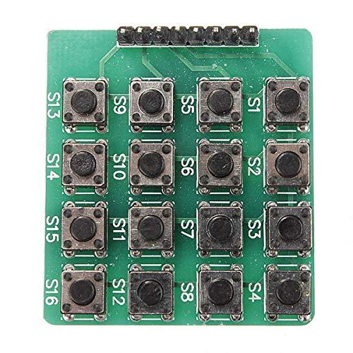 LKK-KK 10pcs 4x4 16-Tasten-Matrix-Tastatur-Tastatur-Modul 16 Tasten für Arduino - Produkte, die mit verschriebenen Arduino-Boards Arbeiten