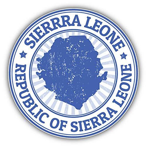 Calcomanía de vinilo con diseño de mapa de Sierra Leona, para portátil, nevera, guitarra, auto, motocicleta, casco, caja de herramientas, maletas de 4 pulgadas de ancho, vinilo, multicolor, 10 Inch In Width