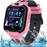 Smart Watch for Kids Girls Boys, IP67 Waterproof Kids Smart Watch with GPS Tracker, 1.54'' HD Touch Screen Call SOS Voice Chat Camera Phone Watches for Kids Age 3-14 (Sky Pink)