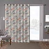 YUAZHOQI cortinas aisladas para puerta corrediza, paraguas, nubes ornamentadas, w100 x l84 pulgadas, persianas verticales para puerta de honda (1 panel)