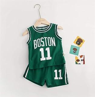 Juego De Camiseta Deportiva para Niños - New Jersey Jersey - Celtic # 11 / Lakers Kobe # 24 / Raptors Canadienses Leonard # 2 / Niños Y Niñas Fans De Baloncesto