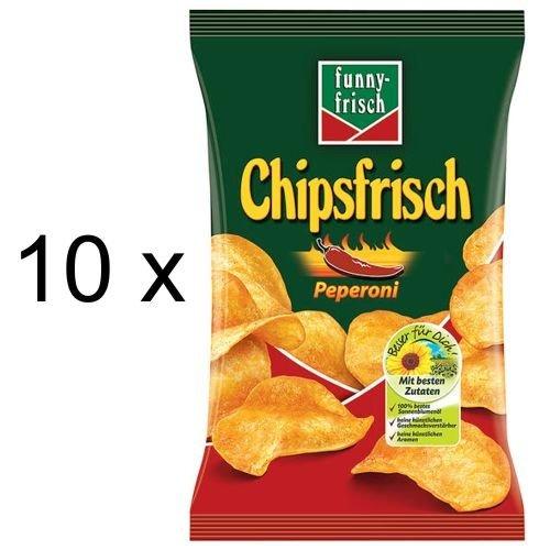 Funny-Frisch Chips Frisch Peperoni (10x 175g Tüten)