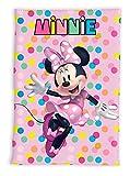 Manta polar de microfibra para niños, suave y acogedora, regalo (Minnie Mouse)