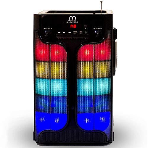 Music Life Altavoz Karaoke Bluetooth Portátil Inlámbrico USB Tarjeta TF Recargable con Radio FM (316-2)