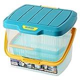 アイリスオーヤマ ボックス ウォッシュBOX ブルー/クリア 幅40.5×奥行31.5×高さ29.5cm