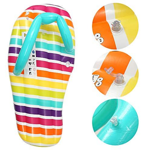ZCPDP Aufblasbare Flip Flop Float Pool Luftmatratze Swimmingpool Strandliege Floating für Erwachsene Bett Aufsitz Pool Party Spielzeug 150x75cm