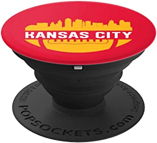 Vintage Downtown Kansas City MO Skyline Football - PopSockets Grip and Stand for Phones and Tablets
