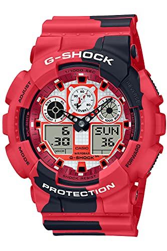 [カシオ] 腕時計 ジーショック NISHIKIGOI 錦鯉 GA-100JK-4AJR メンズ レッド