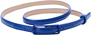 Best cobalt blue skinny belt Reviews