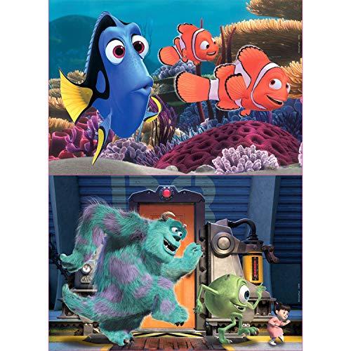 Educa- Disney Pixar : Buscando a Nemo y Monsters Inc 2 Puzzles Infantiles de Madera ecológica de 25 Piezas, a Partir de 3 años (18597)