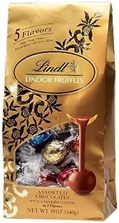 Lindt Lindor Truffles Assorted 5 Flavors -50ct Gift Bag 21.2 Oz (600g)