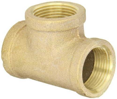 Anderson Metals 38101 Red Brass Pipe Fitting, Tee, 1' x 1' x 1' Female Pipe