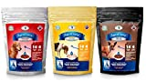 SuperGravy Original Trio - Natural Dog Food Gravy Topper - Hydration Broth Food Mix - Human Grade – Kibble Seasoning for Picky Eaters – Gluten Free & Grain Free, 42 Scoops, 01095