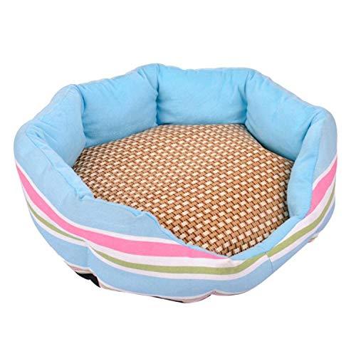 Cute Pet mat Pet Cat Bed Small Dog Puppy Kennel Sofa Summer Sleeping Mat Bed Puppy Cat Doggie Cooling Puppy Kennel Sofa#5,Random,L
