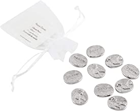 product image for DANFORTH - Vilmain Peace Dove Pocket Tokens - Bag of 10 Pocket Coins - Pewter - Made in USA - Handcrafted
