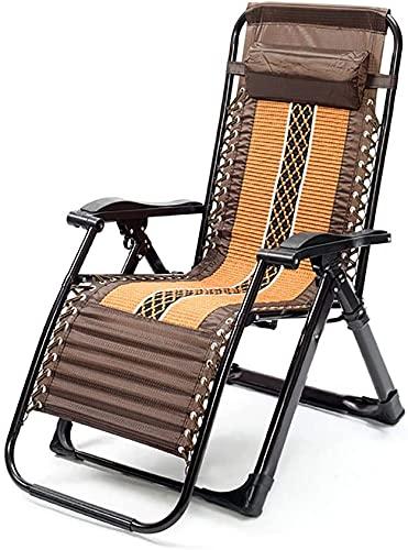 RSTJ-Sjcw Verstellbare tragbare Rattan-Lounge Outdoor Chair Zero Gravity Folding Wicker Recliner für Garten Terrasse Strand Porch Schwimmbad, Outdoor- und Innernutzung