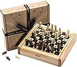 Reiseschachspiel von Jaques - Komplett Handgeschnitztes Echtes Schachspiel von Jaques