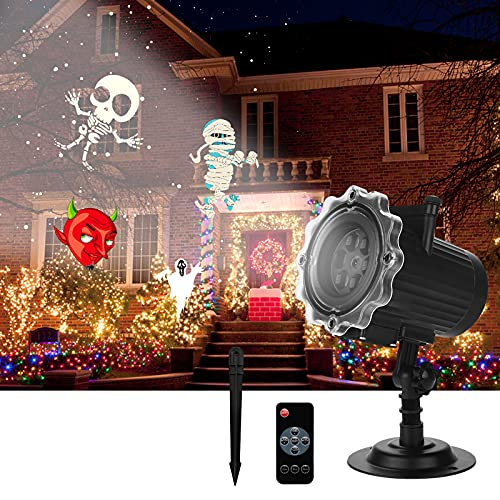 ROVLAK Proyector Luces Navidad LED Luz Proyector Exterior Interiores IP65 Impermeable con...