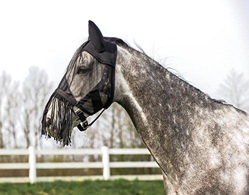 Maschera anti-mosche per cavallo, leggera, a frange