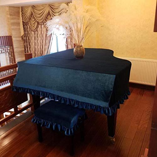 Piano Keyboard Staubschutz Triangle Klavier Abdeckung Stoff Klassisches Pleuche Möbel Staubschutz Plissee Rand Dekoration Grand Piano-Abdeckung Mit Einzel- / Doppelhocker-Tasche, Größe Kundenspezifisc