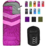 Gold Armour Sleeping Bags for Adults Kids Boys Girls Backpacking Hiking Camping, Cold Warm Weather 4...