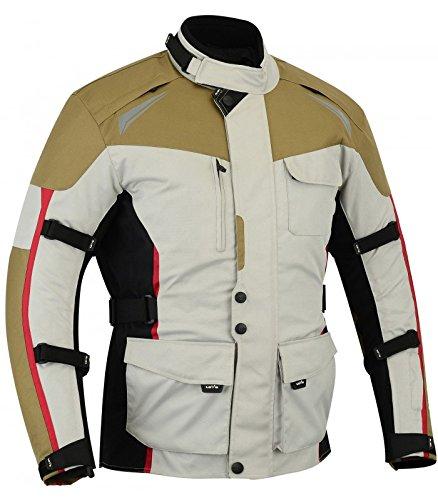 LOVO Chaqueta 3/4 para moto de hombre (XL)