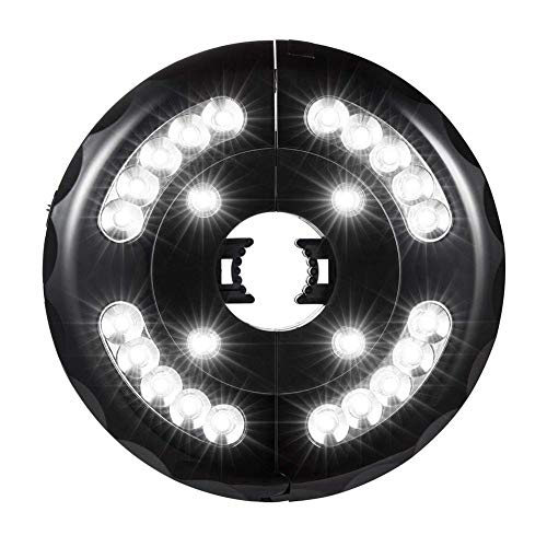 Sonnenschirm LED Beleuchtung 24 LED Super Hell Sonnenschirmbeleuchtung 3 Modi Camping LED Lampe USB Aufladen Drahtlose LED Nachtlicht Für Garten Strand Außenleuchten BBQ Party Camping(schwarz)