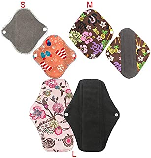 KYK 1-2pcs Reusable cotton menstrual pad cloth pads Washable sanitary napkins Reusable cotton Menstrual pants reusable panty liners (Color : 1pcs Random send, Size : Large)