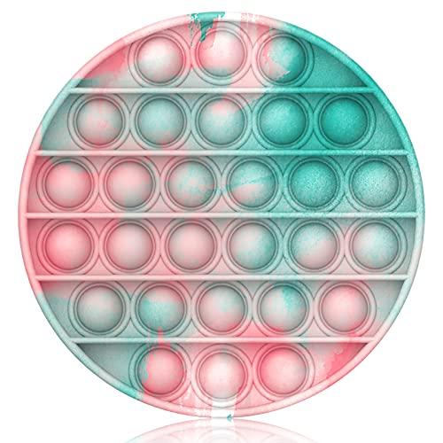 Bdwing Push and Pop Bubble Fidget Toy, Juguete Antiestres Educativo para aliviar el estrés, Necesidades Especiales silenciosas Aula para niños (Round-Pink)