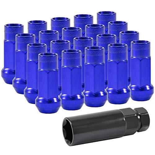 dpPerformance Lug Nuts Stahl M12x1,5 Radmuttern Blau JDM