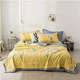 HOUMEL - Edredón de verano para sofá, cama o cama (lavable a máquina, 1,5 tog, 100% algodón), b, uno