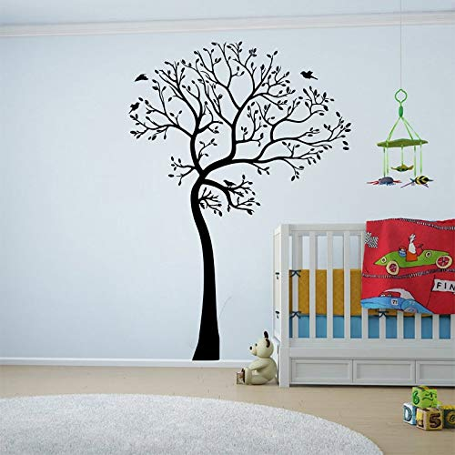 yaofale Cm Alto árbol pájaro Etiqueta de la Pared vivero bebé habitación niños Gran árbol Animal Bosque Pared calcomanía Dormitorio Vinilo decoración