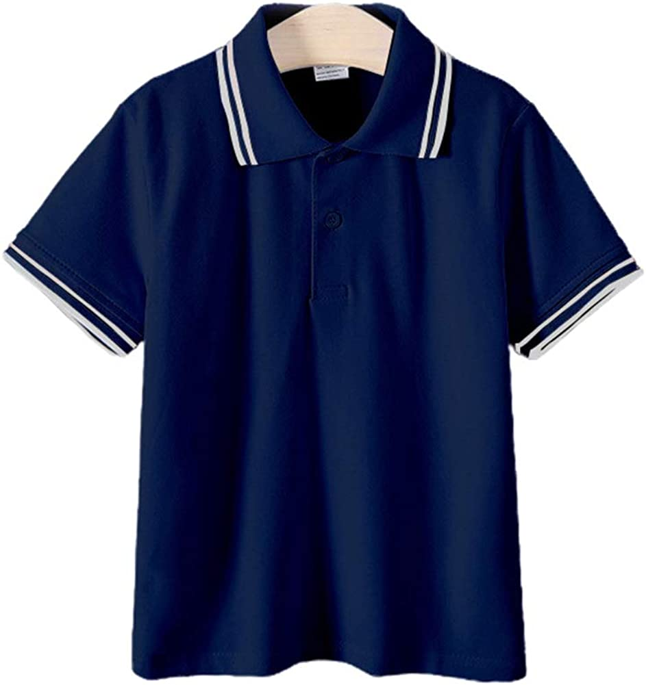 Kids Polo Shirt Cotton Turn Down Collar Summer Short Sleeve Tops Solid Sport Polos Holiday Teenager Tees Boys Shirts Outfits