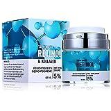 Retinol Creme Anti-Aging-Falten Nacht-Tagescreme mit Hyaluronsäure, Kollagen, Aloe Vera und Grüner...